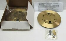 Two (2) Hubbell Wiring System SF39253A Brass Liftcover & Carpet Flange