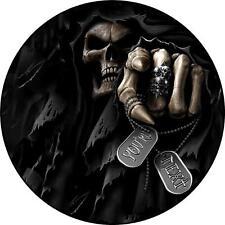 HOUSSE DE ROUE Secours AUTOCOLLANT SKULL Skeleton Your Next 4X4 LAND ROVER Rav