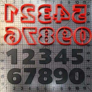 Space Font Number Cookie Cutter Set