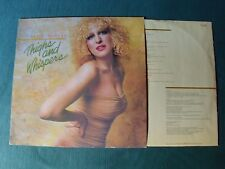BETTE MIDLER : Thighs and Whispers LP INNERSLEEVE 1979 French ATLANTIC ATL 50636