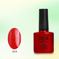 SA019 Bluesky Salon Nail Polish UV GEL Glaze Blaze Orange Gold Glitter