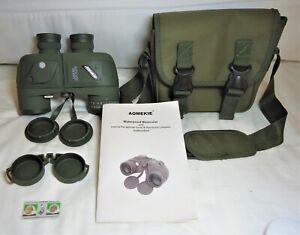 10X50 Low Light Night Vision Binoculars HD W/Rangefinder Compass - EX $74.88