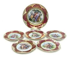 Royal Vienna Austria Porcelain Dessert Service for 5, Courting Scenes