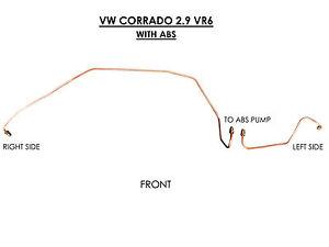 VW CORRADO 2.9 VR6 PRE-BENT COPPER BRAKE PIPE LINE SET FRONT KIT