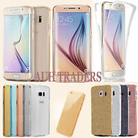 For Samsung Galaxy S9 S8 Plus S7 Edge 360 Silicone Gel Case Cover Front & Back