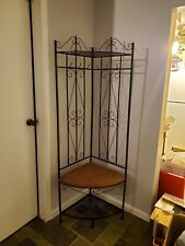Metal Corner Hall Tree Cushion Bench Coat Rack Entryway Storage Stand Office New