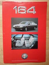ALFA ROMEO 164 range 1988 UK Market leaflet brochure - 3.0 V6 & Lusso