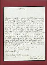 Lettera Suddivisione Testamento del Vescovo Paolo Bartolozzi di Montalcino 1867