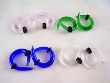 CLEAR  Crossover Glass Ear Plugs Tapers Expanders Gauges Claws 4g 5mm ML16