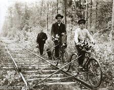 Vintage Bicycles Made For Railroad Tracks Pellston MI Antique Bicycle Rail Bike