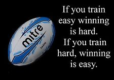 Rugby Inspirational Motivation Citation Poster Imprimé Image Fantastique (3)