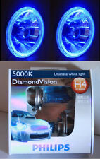 PHILIPS 5000K Hi/Lo BULB HeadlightBLUE LED Halo for Holden HQ HJ HR HX HZ EH FJ