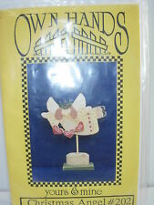 FOLK ART PATTERN CHRISTMAS ANGEL TOLE PAINTING WOOD PROJECT TOLEWARE CRAFTS