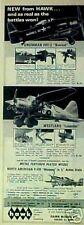 1967 Hawk Model Airplanes Kits Grumman Bearcat~North American Mustang Toy AD