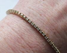 1,50 carati Diamond Tennis Bracelet 14kt Giallo Oro stimato pollice