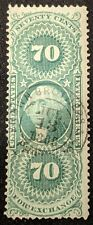 USA Stamp Internal Revenue Foreign Exchange 70 Cents Sc R65c