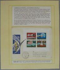 s1150) Raumfahrt Space FDC Ungarn 10.VI.70 - Apollo 13 - Autograph OU Fred Haise