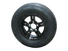 "AM02ABR 205/75R14 LRC Radial Trailer Tire on 14"" 5 Lug Aluminum Trailer Wheel"