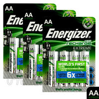 12 x Energizer Rechargeable AA batteries Accu Recharge Extreme NiMH 2300mAh HR6