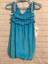 Nwt Ralph Lauren infant girls blue terry cloth romper New Sz 18M