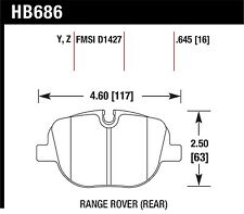 Hawk Performance HB686Z.645 Stable Friction Output Disc Brake Pads