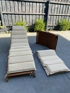 Wooden Outdoor Sun Lounger Pool Lounge Bed Chair Seat Deck Patio Folding