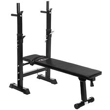Foldable Gym Shoulder Chest Press Sit Up Weights Bench Barbell Workout Fitness
