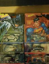 Hot Wheels Pop Culture Batman/Superman Full Set Of 6 Real Riders