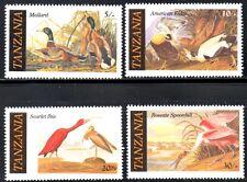 (Ref-10895) Tanzania 1986 Audubon Birds  SG.464/467  Mint (MNH) Set of 4