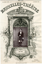 A. Delabarre, Bruxelles-Théâtre, René Neveu, chanteur Vintage albumen Print Ti