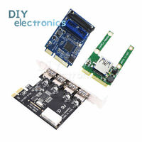 Mini 4 Port PCI-E to USB 2.0 USB 3.0 Card Express Expansion Card adapter US