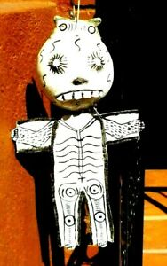 DAY OF THE DEAD COCONUT MASK SKELETON WALL DECOR FOLK ART MEXICO FREE SHIPPING