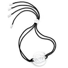 Daisy Jewellery NEW! Black Cord Sterling Silver Brow Chakra Adjustable Bracelet