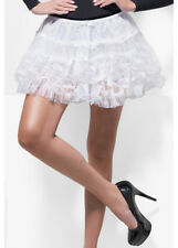 80's Fancy Dress White Lace Petticoat Tutu