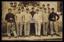Cpa Carte Photo militaire 5e RAP artillerie à pied 6e batterie de Verdun