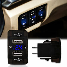 Dual USB Ports Car Charger 4.2A Socket Voltmeter Power Adapter 12V For Toyota
