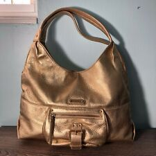101014d20784 MICHAEL KORS Austin Large Leather Shoulder Tote Hobo in Metallic Gold