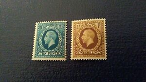 GB King George V 1934-1936 Mint Never Hinged 10d and 1s.  SG # 448 & 449