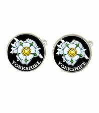 Yorkshire Map Rose Mens Cufflinks Ideal Wedding Birthday Fathers Day Gift C484