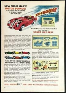 Marx Motor Sounds HO 1/32 1962 Full Page AD *Sound Like Real!*