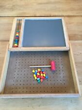 HANDCRAFTED PORTABLE CHALK BOARD WOODEN KIDS BRIEFCASE