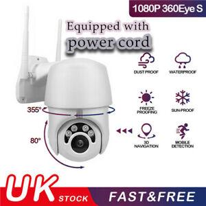 Security Wifi Outdoor Camera HD 1080p Wireless CCTV IP PTZ IR Cam Zoom System UK