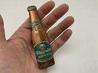 Vintage 1940s Antique Tin Metal Fitzgeralds Beer And Ales Bottle Opener Troy NY