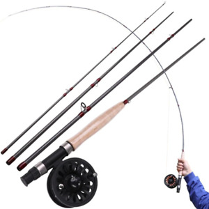 Fly Fishing Rod Reel COMBO, Freshwater Spinning Carbon 2.7m, Pesca Con La Mosca