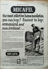Micafil The Most Effective Maison Isolation You Can Buy ! Vintage Annonce 1958