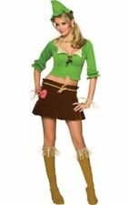 Ladies Sexy Scarecrow Wizard Of Oz Fancy Dress Costumes Outfit Halloween UK 8-10