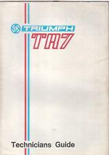 TRIUMPH TR7 COUPE ORIGINAL 1975 FACTORY UK TECHNICAL DATA BOOKLET