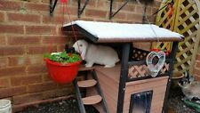 Rabbit Small House Cat Dog Pet Den Luxury Kennel Wooden Shelter Outdoor Indoor