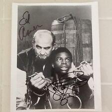 "LeVar Burton & Ed Asner SIGNED 8x10 Photo  ""Roots""   1977 TV Mini Series"