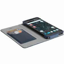New Krusell Kiruna Official Silent Circle Blackphone 2 Leather Flip Case Blue